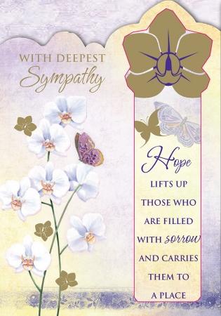Floral Bookmark Sympathy