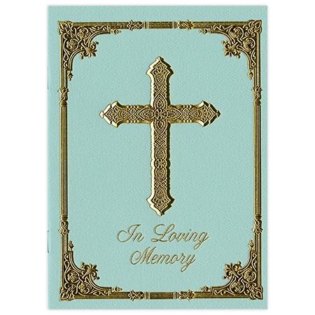 Gold Cross Mary Sympathy Folder