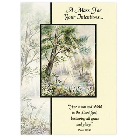 Intentions Mass Card: Tree