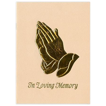 Beige Mary Sympathy Folder